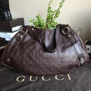 Gucci Guccissima Brown Medium Abbey Tote ❤️❤️